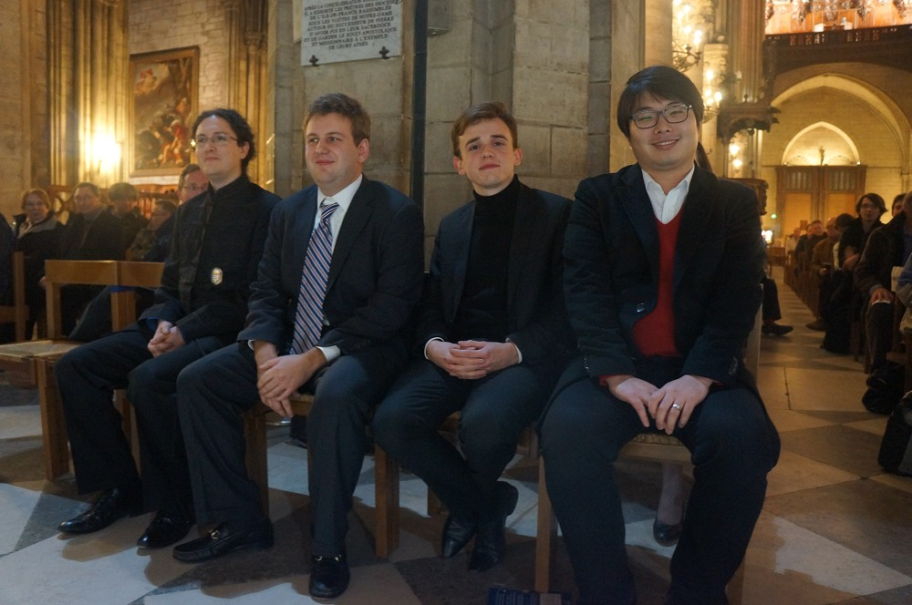 Finalistes du concours international d'orgue de Chartres 2014