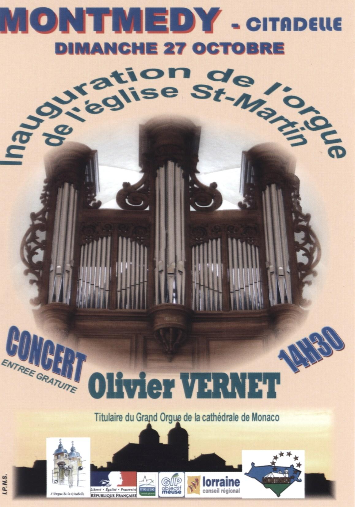 Inauguration orgue de Montmédy