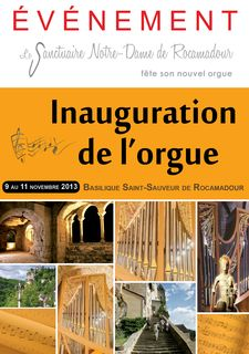 Inauguration orgue de Rocamadour (Lot)