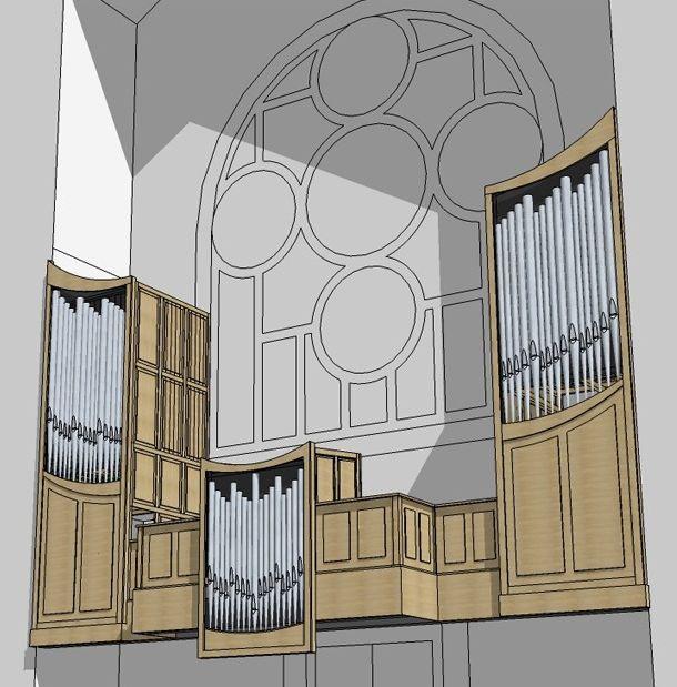 Ebauche de l'orgue D. Lacorre Saint-Louis de Vincennes