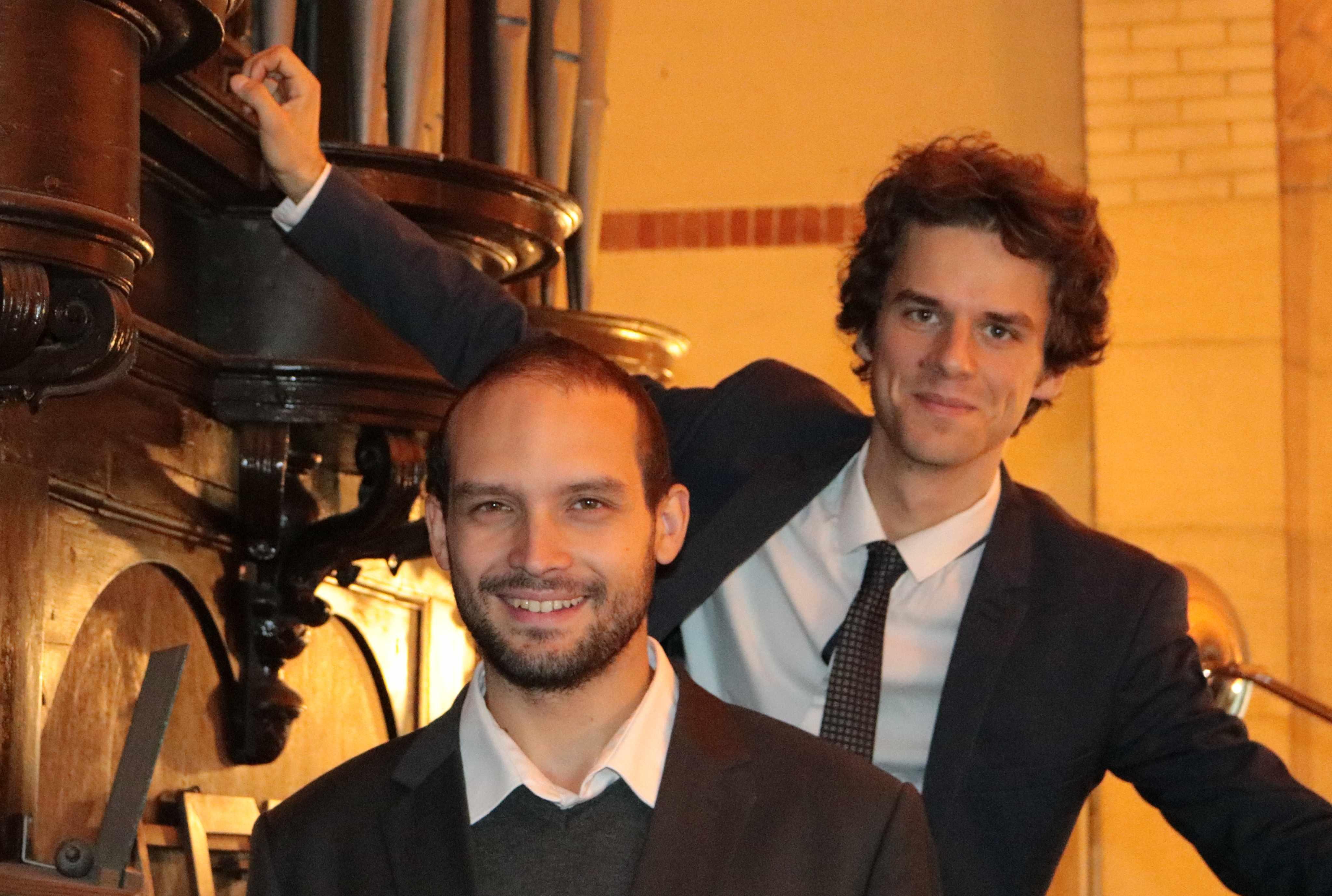 Le violoncelliste Thibaut Reznicek (2è plan) et l'organiste Quentin Guerillot Photo : Ph. Lécossais