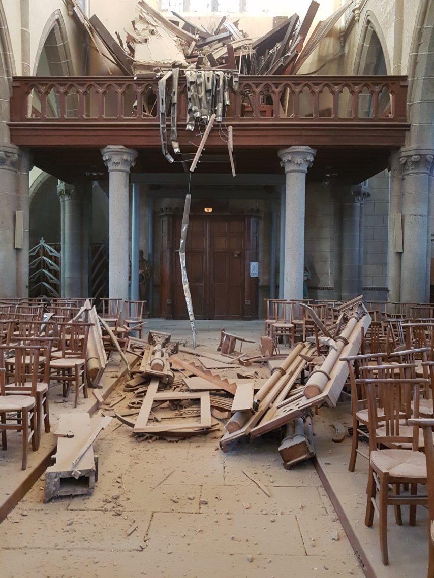Orgue de St James détruit